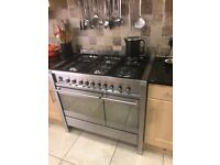 Smeg A2-5 range cooker Dual Fuel Stainless Steel, double oven with Rotisserie Kit.