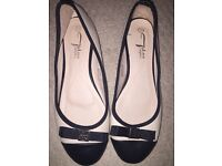 NEW Cream and Black flats for sale!