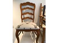 Lovely chunky heavy ladder back chair carved detail