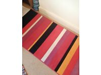 Multi stripe carpet rug from Ikea