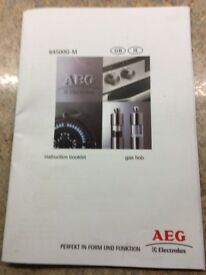 AEG Gas Hob 64500G. Full working order hardly used with instruction booklet stainless steel