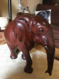 Big wood carved elephant Sold