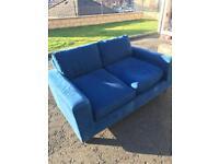 Free blue fabric washable covers Habitat sofa