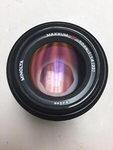Minolta AF Maxxum 50mm f1.4 prime lens with 90 days warranty