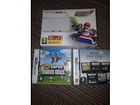 3DS XL CONSOLE BOXED WITH GAMES