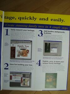 Family Tree Creator Deluxe - New (Version- Win 98) Kitchener / Waterloo Kitchener Area image 5