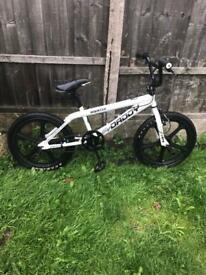 "BIG DADDY ROOSTER BMX BIKE, 20"" WHEELS, FRONT AND REAR STUNT PEGS,"