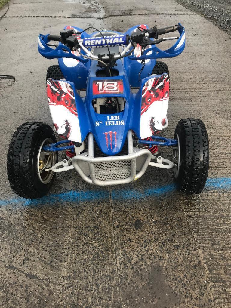 100 cc pro shark lots off race spec good quad just after full service