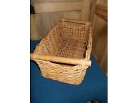 Wicker basket with handles ideal display unit