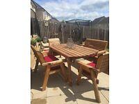SOLD Solid wood garden furniture set