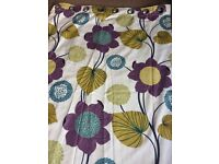 Eyelet floral floor length curtains
