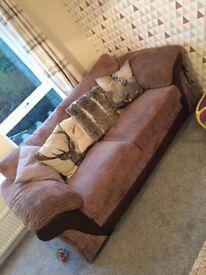 4 piece brown sofa set