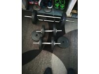 32KG Weights and bars