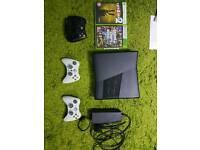Xbox 360 Slim 4gb + 120gb hd + 3 controllers + GTA 5