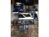 PS4 with VR, gun, ps move sticks + 7 games