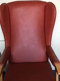 Wing backed orthopaedic chair