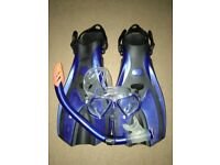 Snorkeling kit with wetsuit