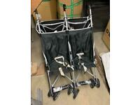 Twin strollers collapsible