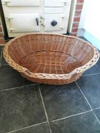 Large Wicker Dog Basket