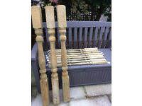 Decking posts x 3, handrails x 2, spindles x 8. New & unused.