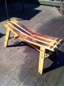 Oak Whisky Barrel Benches