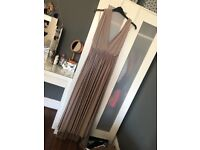 Taupe coloured multiway bridesmaid dress
