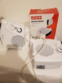 2 boss electric heaters brand new never used