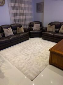 Leather Sofa Set 3 seater, 2 seater and 1 seater