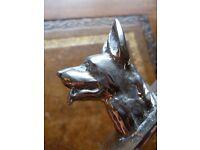 Letter Opener with Alsatian Dog Head