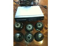full CCTV alarm system with 6 cameras and sensors