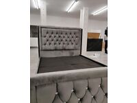 kinG and DoublE sizE plusH velvet heaven bed