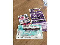 Creamfields gold 4day camping ticket x1 with gold parking pass