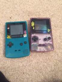 2 x gameboy color consoles