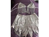 SEQUINNED SILVER DANCE COSTUME