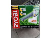 RYOBI eletric blower / vac 2200 W - RBV - 2200 with bag In good working order