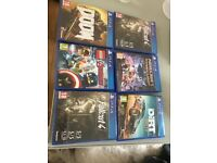ps4 games bundle new and used!!!!
