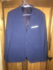 Blue Burtons Menswear 3 piece Slim Fit Suit