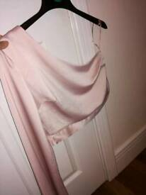 Top shop satin one sleeve top size 8