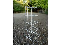 White saucepan rack, 5 tiers , floor standing. FOR SALE £3