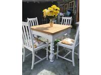 Old re-cycled barely twist table and 4 chairs