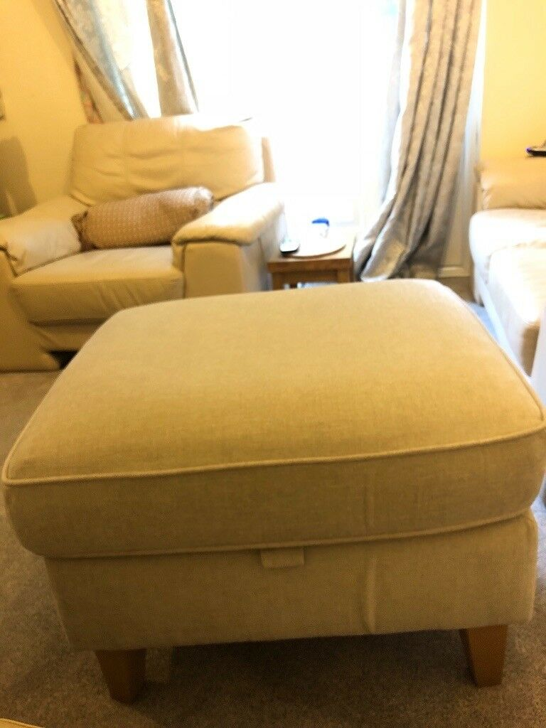 Next Fabric Ottoman Storage Footstool In St Mellons