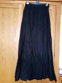 Maxi skirts elastic waist size 8