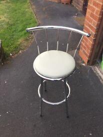 Pair of cream bar stool