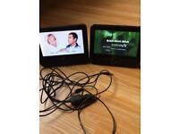 "Logic (7"") twin portable DVD player AV SD USB CD car tv fully working."