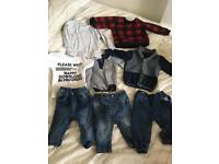 Bundle of 3-6 months boys clothes in excellent condition