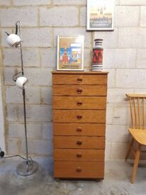 Mid Century Vintage Tall Chest Drawers