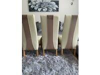 Leather Dining Room Chair Set