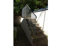 Galvanised Hand Rail in two sections