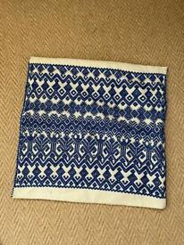 Blue Mexican cushion cover