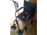 drive transport wheelchair with seatbelt